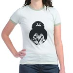 Geisha Cat Jr. Ringer T-Shirt