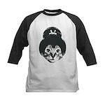 Geisha Cat Kids Baseball Jersey