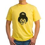 Geisha Cat Yellow T-Shirt