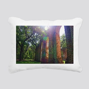 Old Sheldon Church 4 Rectangular Canvas Pillow