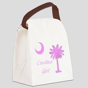 Carolina Girl Pink Canvas Lunch Bag