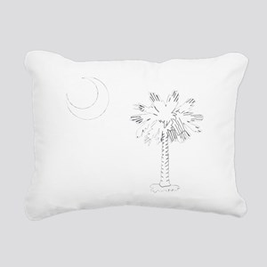 White Rectangular Canvas Pillow