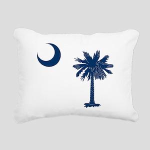 Blue Rectangular Canvas Pillow