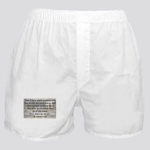 Romans 10:9 Boxer Shorts