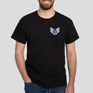 Staff Sergeant<BR> Black T-Shirt 1