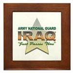 Army Guard Just Passin Thru Framed Tile