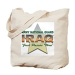 Army Guard Just Passin Thru Tote Bag