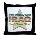 Army Guard Just Passin Thru Throw Pillow