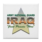 Army Guard Just Passin Thru Tile Coaster