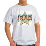 Army Guard Just Passin Thru Ash Grey T-Shirt