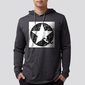 Star Circle Gray SCC Mens Hooded Shirt