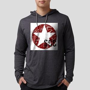 Star Circle Red SCC Mens Hooded Shirt