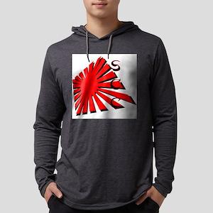 Rising Sun1 RedBlk SCC Mens Hooded Shirt