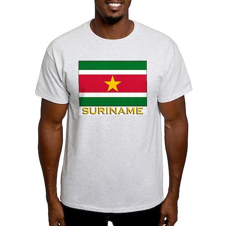Flag of Suriname Ash Grey T-Shirt