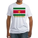 Flag of Suriname Fitted T-Shirt