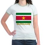 Flag of Suriname Jr. Ringer T-Shirt