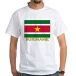 Flag of Suriname White T-Shirt