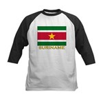 Flag of Suriname Kids Baseball Jersey