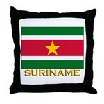 Flag of Suriname Throw Pillow