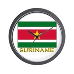 Flag of Suriname Wall Clock