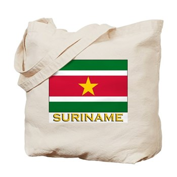 Flag of Suriname Tote Bag