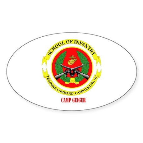 Camp Geiger with Text Sticker (Oval)