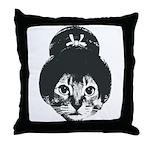 Geisha Cat Throw Pillow