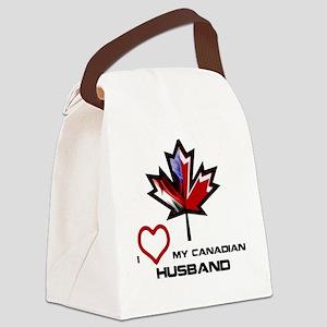 America - Canada Husband Canvas Lunch Bag