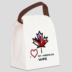 Canada-America Wife Canvas Lunch Bag