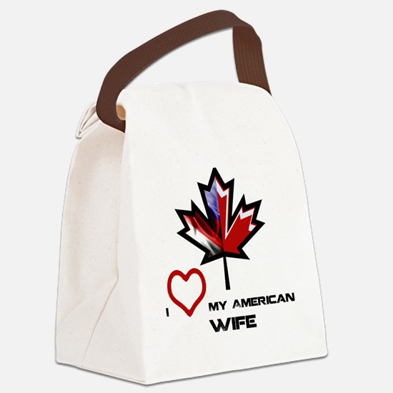 Canada-America Wife.png Canvas Lunch Bag