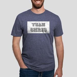 Team Chris blk Mens Tri-blend T-Shirt
