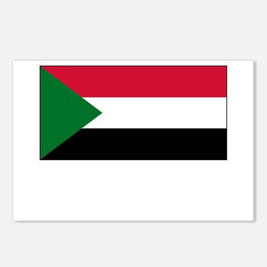 Sudan Flag Picture Postcards (Package of 8)