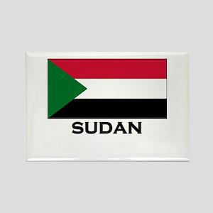 Sudan Flag Stuff Rectangle Magnet