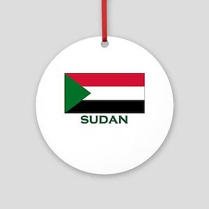 Sudan Flag Gear Ornament (Round)