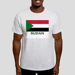 Sudan Flag Gear Ash Grey T-Shirt