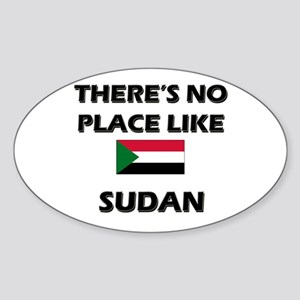 There Is No Place Like Sudan Oval Sticker