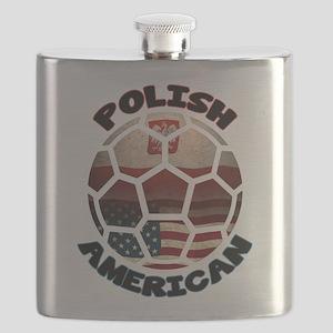 Polish American Soccer Football Flask