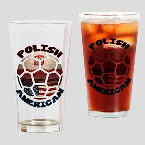 Polish American Soccer Football Drinking Glass