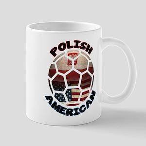 Polish American Soccer Football Mug