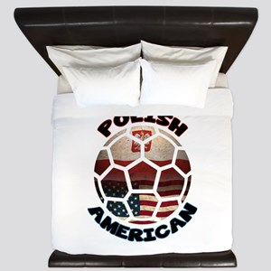 Polish American Soccer Football King Duvet