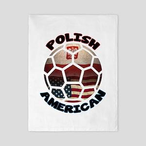 Polish American Soccer Football Twin Duvet