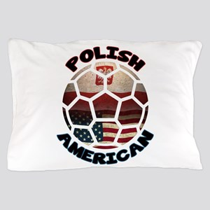 Polish American Soccer Football Pillow Case