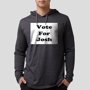 Vote Josh blk Mens Hooded Shirt