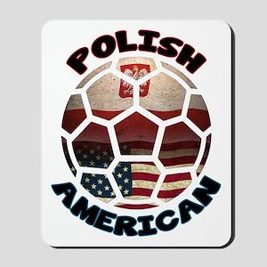 Polish American Soccer Football Mousepad