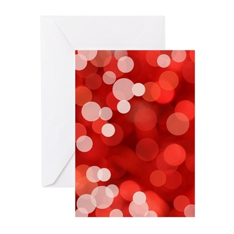 Red Sparkles Greeting Cards (Pk of 10)
