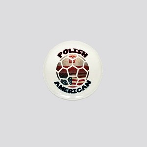 Polish American Soccer Football Mini Button