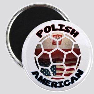 Polish American Soccer Football Magnet