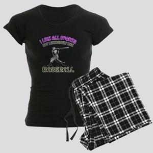 Baseball Design Women's Dark Pajamas
