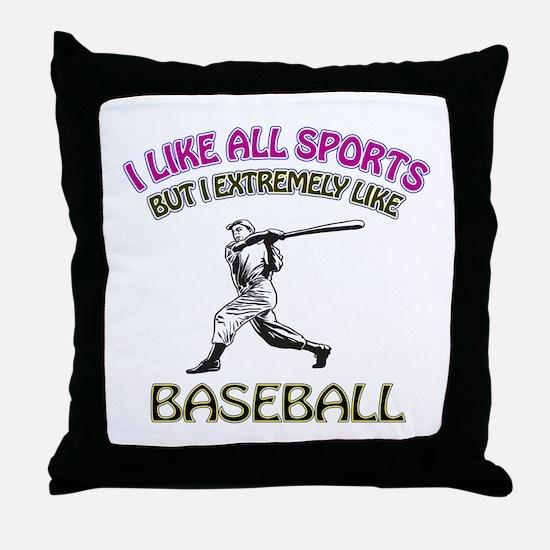 Baseball Design Throw Pillow