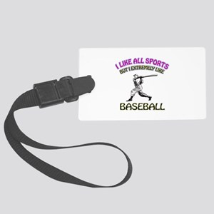 Baseball Design Large Luggage Tag